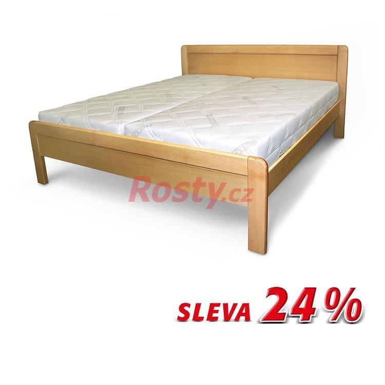 Česká výroba KOMPLETNÍ MANŽELSKÁ POSTEL 180x200 Z MASIVU GRACIE