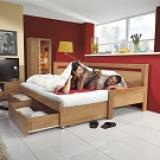 Rozkládací postel s úložným prostorem