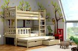 Patrová postel pro tři s přistýlkou