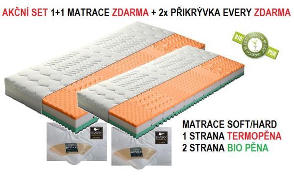 Matrace ACTIVE VISCO BIO 1+1 matrace ZDARMA + pøikrývky EVERY ke každé matraci ZDARMA