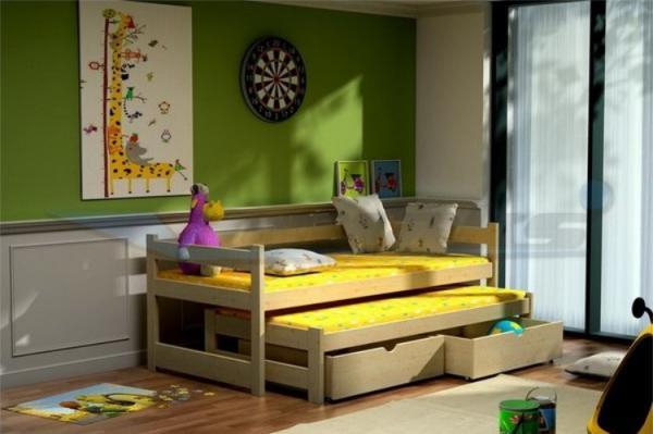 Dìtská postel s pøistýlkou
