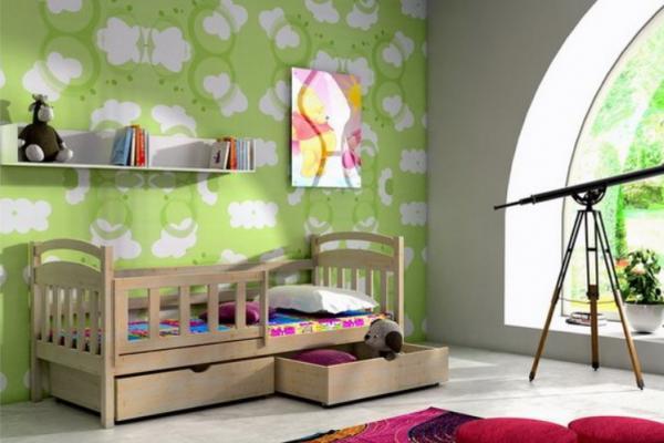 Dìtská postel s úložným prostorem